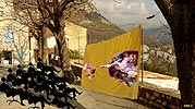 la recreation de Gourdon, photomontage